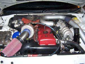 Bevans EF Fairmont Ghia Turbo Engine Bay