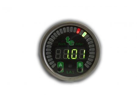 TechEdge LA1 Round Wideband O2 Gauge
