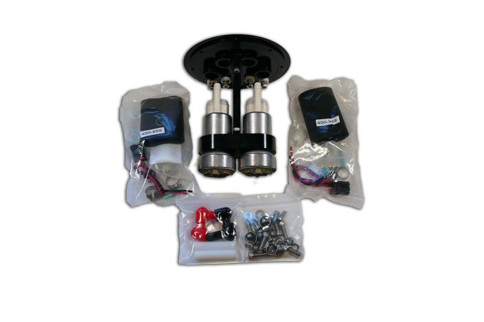 Raceworks 2.8 litre twin pump surge tank kit with Walbro 460 Pumps